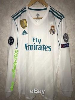 Real Madrid 2018 Champions League Adizero Shirt Cristiano Ronaldo Player Version