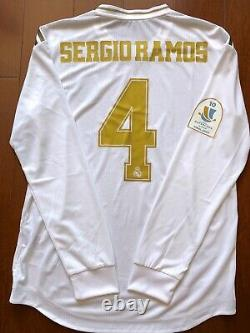Real Madrid 2019-2020 Spain Supercup FINAL Sergio Ramos player issue jersey