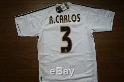 Real Madrid #3 R. Carlos 100% Original Jersey Shirt 2003/2004 Home S NEW 1821