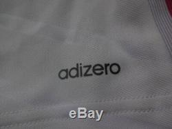 Real Madrid #4 Ramos 100% Authentic Player Issue adizero Jersey 2014/15 Home Kit