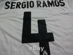 Real Madrid #4 Sergio Ramos 100% Original Jersey Shirt 2009-10 Home M BNWT Rare