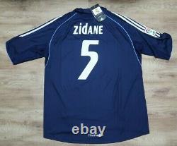 Real Madrid #5 Zidane 100% Original Jersey Shirt L 2005/2006 Away NEW Rare