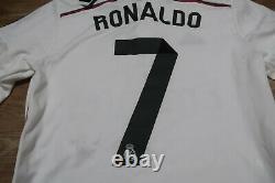 Real Madrid #7 Cristiano Ronaldo 100% Original Jersey Shirt 2014/2015 Home S NEW