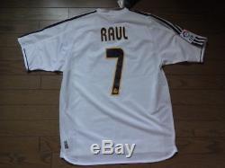 Real Madrid #7 Raul 100% Original Jersey Shirt 2003/04 Home M Still BNWT NEW