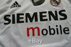 Real Madrid #7 Raul 100% Original Jersey Shirt 2004/2005 Home XL NWT 1763