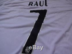 Real Madrid #7 Raul 100% Original Jersey Shirt 2005/06 Home M Still BNWT
