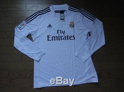 Real Madrid #9 Benzema 100% Original Jersey XL 2014/15 Home LS BNWT