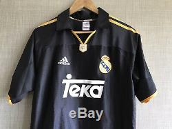 Real Madrid Away Football Shirt 1999/2001 Spain Vintage Football Jersey Adidas