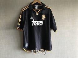 Real Madrid Away Football Shirt 1999/2001 Spain Vintage Football Jersey Adidas L
