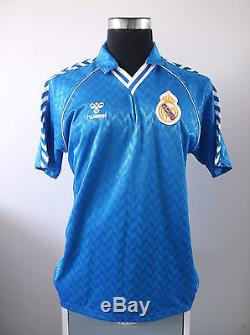 Real Madrid Away Football Shirt Jersey (XL) 1987-1989 Original