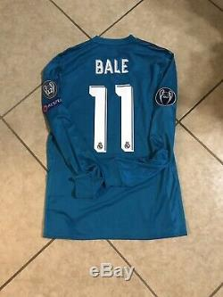 Real Madrid Bale Prepared Wales Player Issue Jersey Match Unworn Adizero Shirt