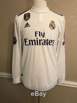 Real Madrid Bale Wales Player Issue Adizero Jersey Match PreparedFootball Shirt