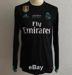Real Madrid Bale Wales Uefa Cup Player Issue Adizero Shirt Match Unworn Jersey