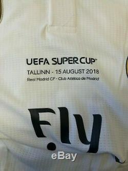 Real Madrid Benzema Maglia Shirt Jersey Match Worn Uefa Supercup 2018