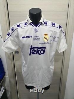 Real Madrid Butragueno 7 Last Match Rare! Shirt Maillot Jersey Trikot