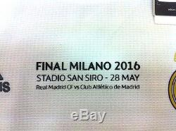 Real Madrid Champions League Final 2016 Sergio Ramos #4 Home Long Shirt Jersey