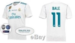 Real Madrid Champions League Final 2018 Jersey Shirt Home Ronaldo Ramos Bale NEW