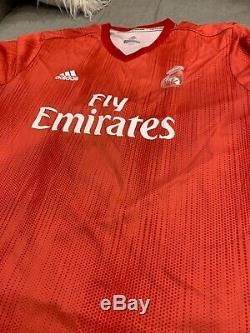 Real Madrid Cristian Bale Fly Emirates XXL Red Jersey NEW! FAST SHIPPING