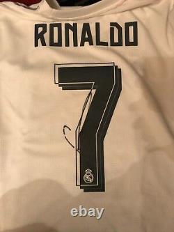 Real Madrid Cristiano Ronaldo Autographed Signed Brand New Jersey COA