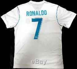 Real Madrid Cristiano Ronaldo Signed Champions Soccer Jersey BAS Beckett COA