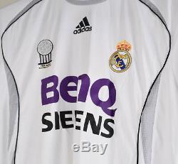 Real Madrid David Beckham Signed ADIDAS BenQ Siemens Soccer Jersey M
