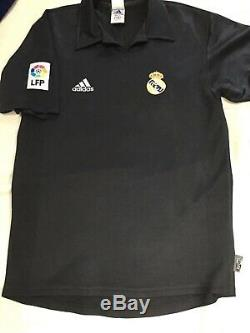 Real Madrid Football Shirt R. Carlos Vintage Genuine Adidas 2001/02 Away Jersey