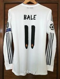 Real Madrid Gareth Bale 2013-2014 UCL Final Lisbon Formotion player issue jersey