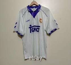Real Madrid Home Shirt 1993 1994 Michael Laudrup #10 Hummel Jersey Camiseta XL