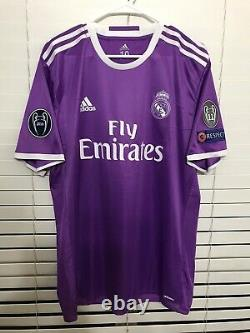 Real Madrid James Colombia Shirt CL Adidas Player Issue Shirt Adizero Jersey