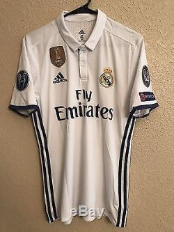 Real Madrid Kroos Germany Player Issue Adizero 6 Match Prepared Unworn Jersey