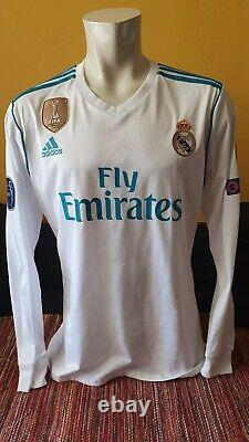 Real Madrid Match Worn Shirt Jersey Maillot Champions League UCL #7 RONALDO CR7