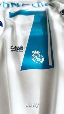 Real Madrid Official 17-18 Final Kiev Ronaldo Long Sleeve Jersey LS Shirt (L)