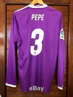 Real Madrid Pepe 2016-2017 La Liga adizero locker room player issue jersey