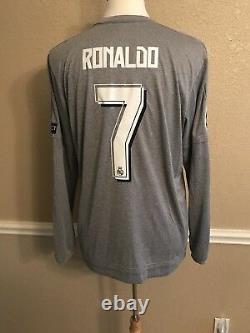 Real Madrid Player Issue Adizero Ronaldo Juventus Football Shirt Soccer Jersey