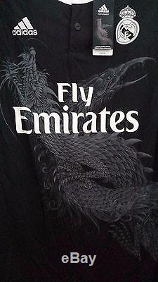 Real Madrid RMFC 2014-15 Away 3RD Football Soccer Jersey Shirt RM F49264 Dragon