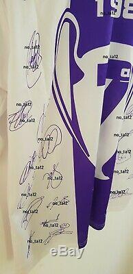 Real Madrid Retro Memorabilia Shirt Jersey Signed 97/98 Final Copa de Europa UCL