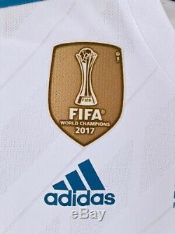 Real Madrid Ronaldo 2017-2018 UCL Final Kyiv adizero player issue match jersey