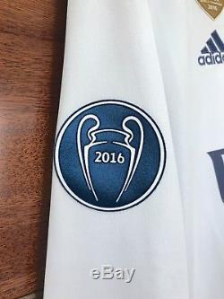 Real Madrid Ronaldo 2017 Final Cardiff Champions League celebration jersey L