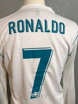 Real Madrid Ronaldo 8 Juventus CL Adizero Prepared Match Issue Football Jersey