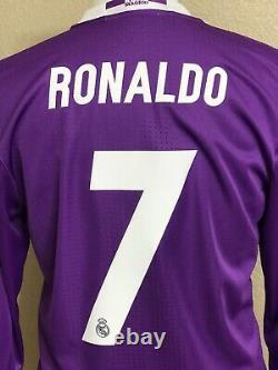 Real Madrid Ronaldo 8 Player Issue Adizero Shirt Football Jersey