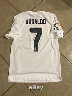 Real Madrid Ronaldo 8 Portugal Player Issue Adizero Match Unworn Football Shirt