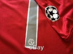 Real Madrid Ronaldo Manchester United soccer jersey Champions 2008 Final shirt