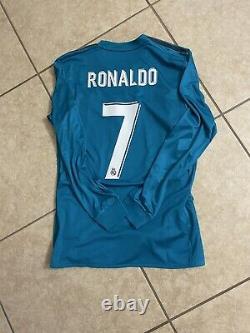 Real Madrid Ronaldo Player Issue Shirt Adizero Champions League Jersey