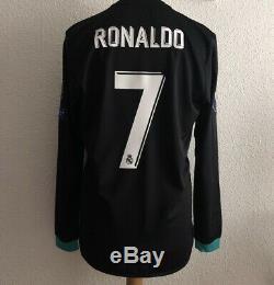 Real Madrid Ronaldo Super Cup 8 Juventus Player Issue Prepared Adizero Jersey