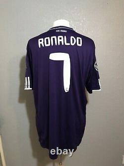 Real Madrid Ronaldo XXL Champions League Jersey Adidas Climacool Soccer Shirt