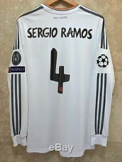 Real Madrid Sergio Ramos 2014 Champions League Final Lisbon jersey L