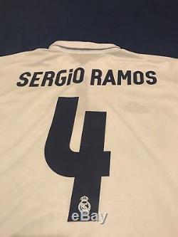Real Madrid Sergio Ramos Long Sleeve Soccer Jersey Barcelona Mexico America USA