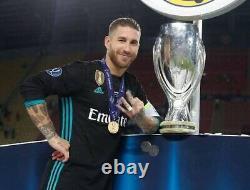 Real Madrid Sergio Ramos Super Cup Player Issue Adizero Shirt Football Jersey