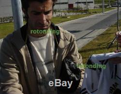 Real Madrid Shirt Hand Signed Beckham Zidane Raul Jersey + Photo Proof