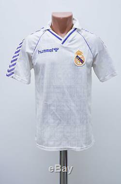Real Madrid Spain 1988/1989/1990 Home Football Shirt Jersey Camiseta Hummel